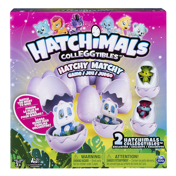 Hatchimals 34602 Хетчималс Настольная игра Memory + 2 коллекционные фигурки