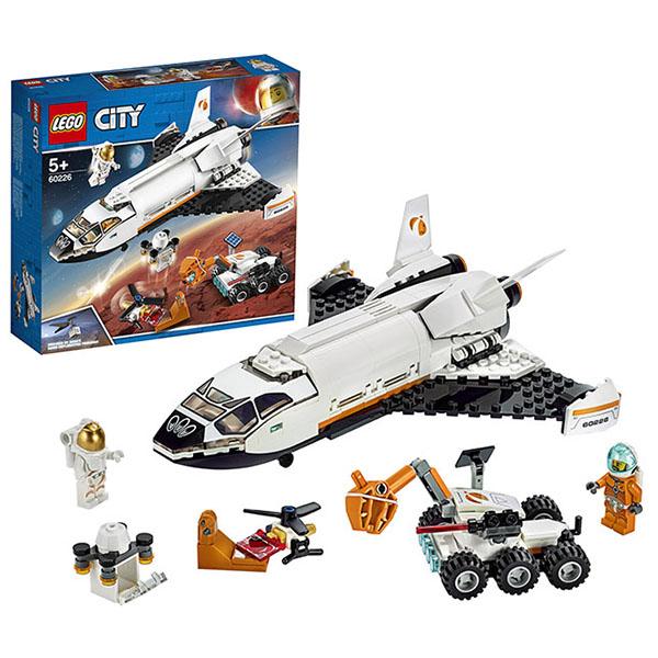 LEGO City 60226 Конструктор ЛЕГО Город Шаттл для исследований Марса lego city городская больница 60204