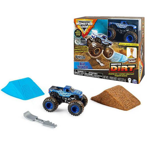 Monster Jam 6045198-BLU Монстр Джем Blue Thunder игровой набор с машинкой и кинетическим песком straight wire blue thunder 1 5m 20a
