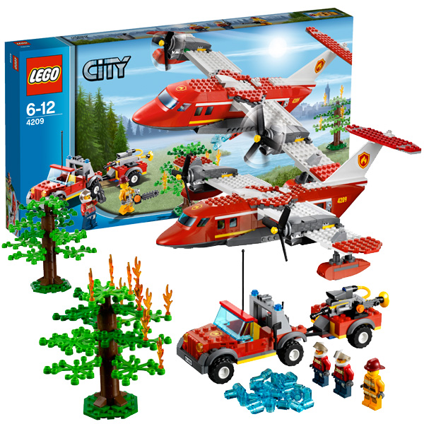 Lego City 4209 Конструктор Лего Город Пожарный самолёт