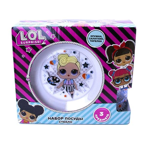"""L.O.L. Surprise! 288529 """"Dollsaregogo"""" Набор посуды в подарочной упаковке (3 предмета)"""