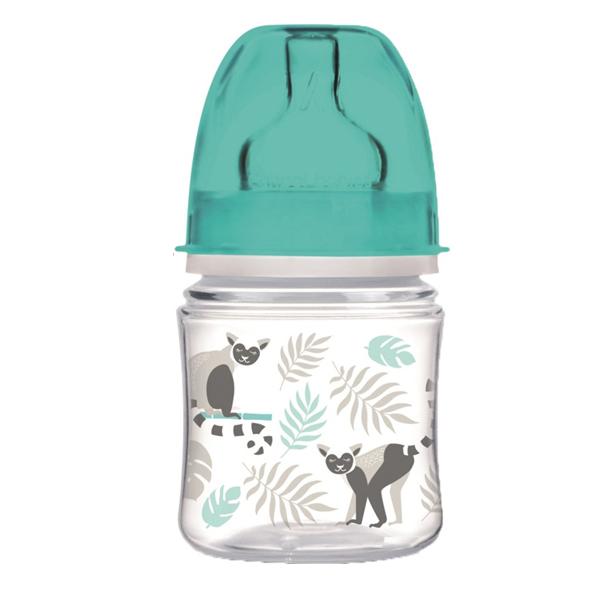 Canpol babies 250989406 Бутылочка PP EasyStart с широким горлышком антиколик., 120 мл, 0+,серая