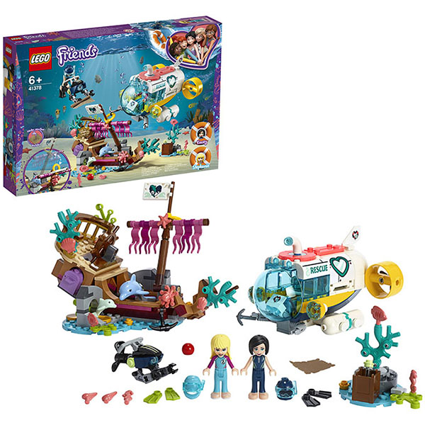 LEGO Friends 41378 Конструктор ЛЕГО Подружки Спасение дельфинов цена