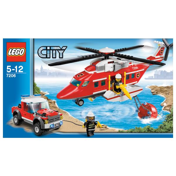 Lego City 7206 Конструктор Лего Город Пожарный вертолет