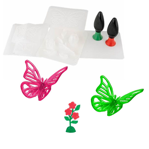 3D Magic 82001 Набор для создания объемных моделей - бабочка и цветок 3d magic набор для создания объемных моделей 3d maker 81000