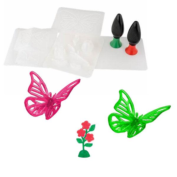 3D Magic 82001 Набор для создания объемных моделей - бабочка и цветок набор форм для вырубки sizzix sizzlits бабочка цветок завиток