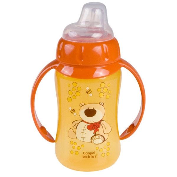 Canpol babies 210231020 Поильник обучающий с силиконовым носиком и ручками, 320 мл,6+