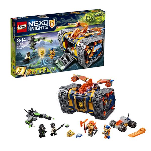 Lego Nexo Knights 72006 Конструктор Лего Нексо Мобильный арсенал Акселя lego nexo knights 70354 лего нексо бур машина акселя