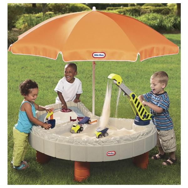 Little Tikes 401N_116 Литл Тайкс Стол-песочница с зонтом и зоной для воды