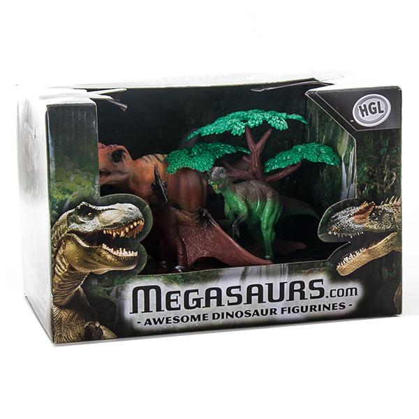 Megasaurs SV10621 Мегазавры Игровой набор 3 динозавра + дерево (в ассортименте)