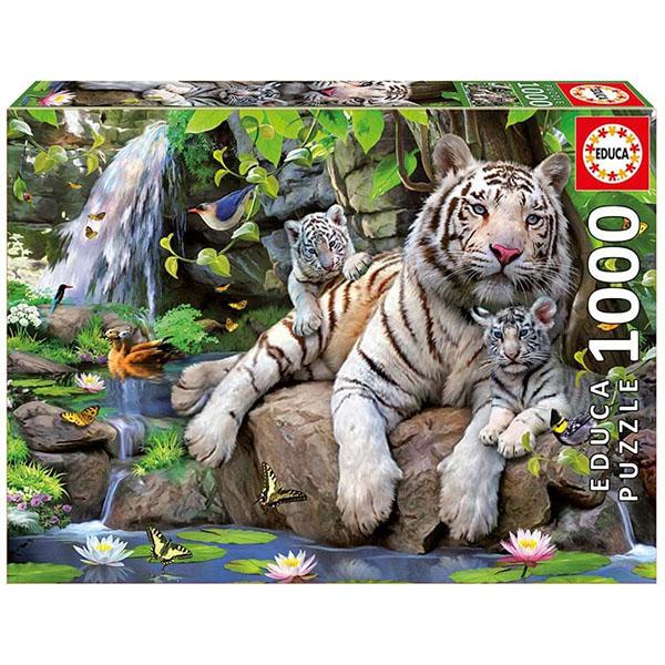 """Educa 14808 Пазл 1000 деталей """"Белые Бенгальские Тигры"""""""