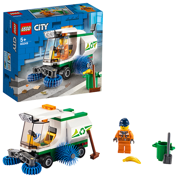 LEGO City 60249 Конструктор ЛЕГО Город Great Vehicles Машина для очистки улиц детское лего sluban airbus lego b0366