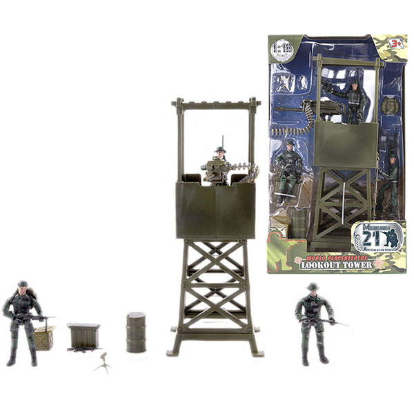 World Peacekeepers MC77021 Игровой набор WP. Караульная вышка 1:18, (3 фигурки) игровые фигурки monchhichi фигурки каури ханна вилли 3 в 1