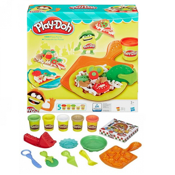 Hasbro Play-Doh B1856 Игровой набор пластилина Пицца рубашка мужская calvin klein ck fit tee