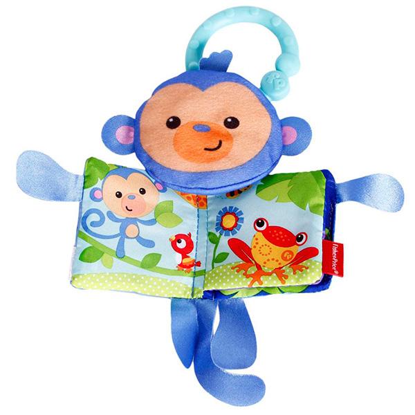 Mattel Fisher-Price CBH87 Фишер Прайс Мягкая книжка обезьянка развивающая игрушка fisher price мягкая книжка в ассортименте