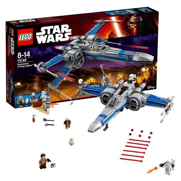 Lego Star Wars 75149 Лего Звездные Войны Истребитель Сопротивления типа Икс lego конструктор lele истребитель особых войск первого ордена аналог 75101