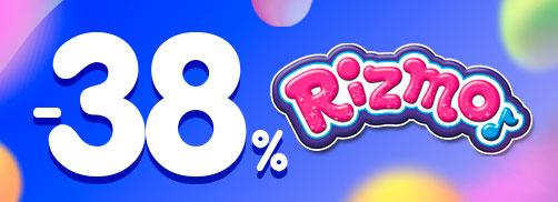 Скидка 38% на RIZMO