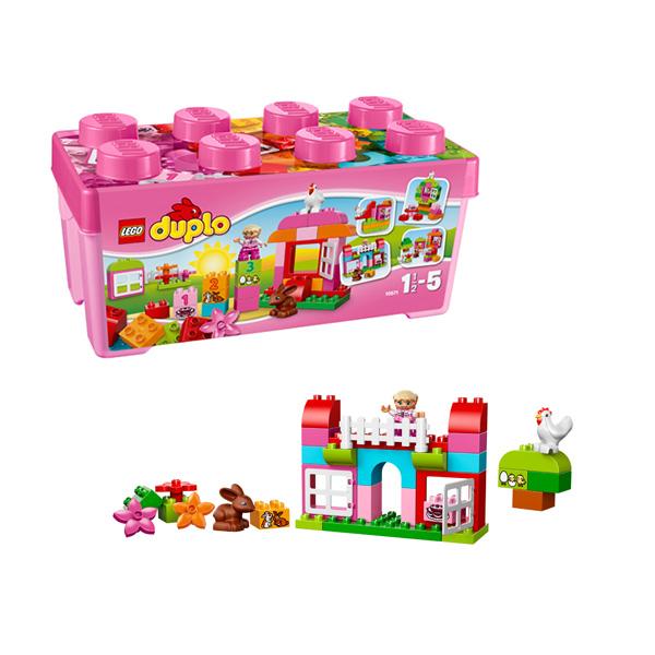 Lego Duplo 10571 Конструктор Лего Дупло Лучшие друзья: курочка и кролик lego duplo 10580 лего дупло набор для весёлой игры