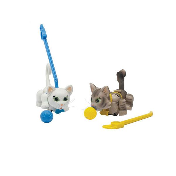 Pet Club Parade PTC01111 Пет Клаб Парад Фигурки кошечек с мячиком и поводком (в ассортименте) pet club parade игрушка фигурки собачек колли и мопс