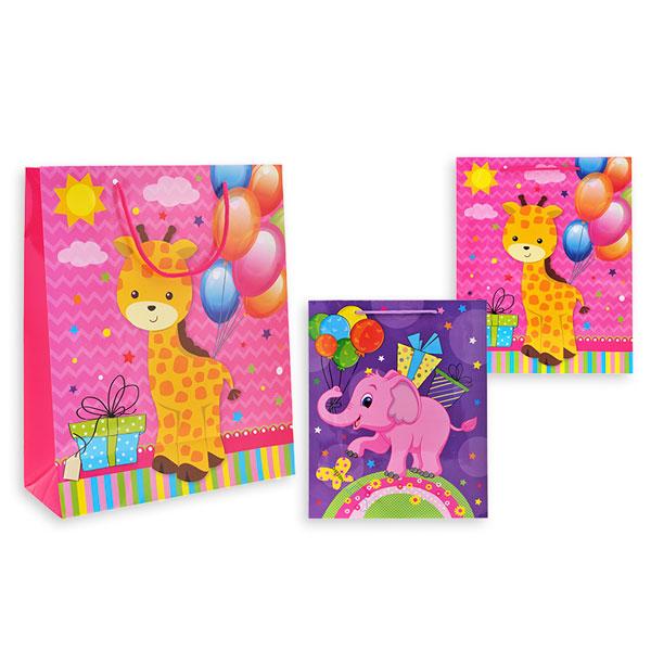 Пакет подарочный бумажный S1514 Детский, 2 вида (32x26x10 см) (в ассортименте) пакет подарочный бумажный голография 11 1 13 7 6 2 см в ассортименте