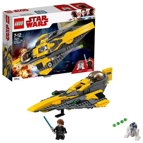 Lego Star Wars 75214 Конструктор Лего Звездные Войны Звёздный истребитель Энакина cogo конструктор строительных блоков в военной серии малозаметный бомбардировщик истребитель 400 деталей 13351