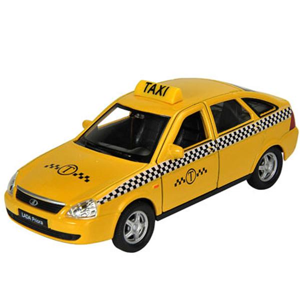 Welly 43645TI Велли модель машины 1:34-39 LADA PRIORA ТАКСИ машины drift машина фрикционная такси