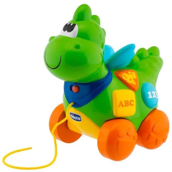 CHICCO TOYS 69033 Говорящий дракон на колесиках (рус/англ) с 9 месяцев