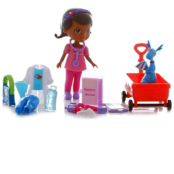 Doctor Plusheva 90815 Доктор Плюшева Игровой набор Доктор Плюшева доктор плюшева игровой набор с куклой время осмотра цвет халата сиреневый