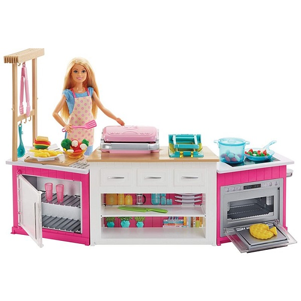 Barbie FRH73 Супер кухня с куклой