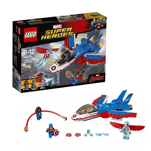 Lego Super Heroes 76076 Конструктор Лего Супер Герои Воздушная погоня Капитана Америка конструктор lego marvel super heroes реактивный самолёт мстителей 76049