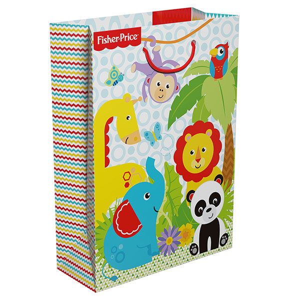 Пакет подарочный бумажный R34985 Фишер Прайс 25*9*35см пакет подарочный бумажный s1511 с днем рождения 3 вида 32x26x13 см в ассортименте