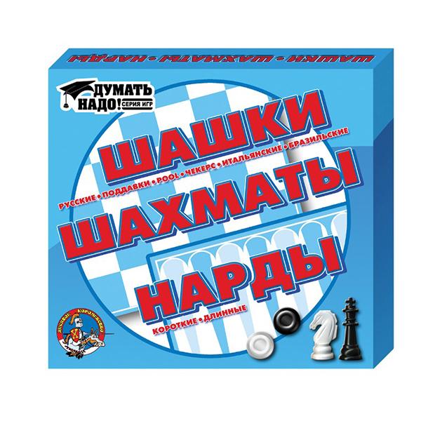 Десятое королевство TD01451 Игра настольная Шашки, шахматы, нарды rovertime нарды шашки витязь на распутье