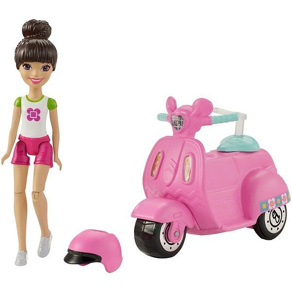 "Mattel Barbie FHV80 Барби Кукла ""В движении"" Скутер и кукла"