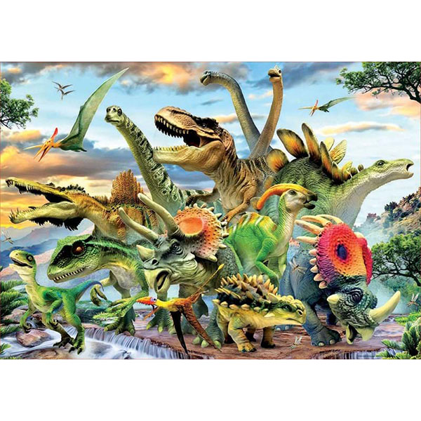 "цена на Educa 17961 Пазл 500 деталей ""Динозавры"""