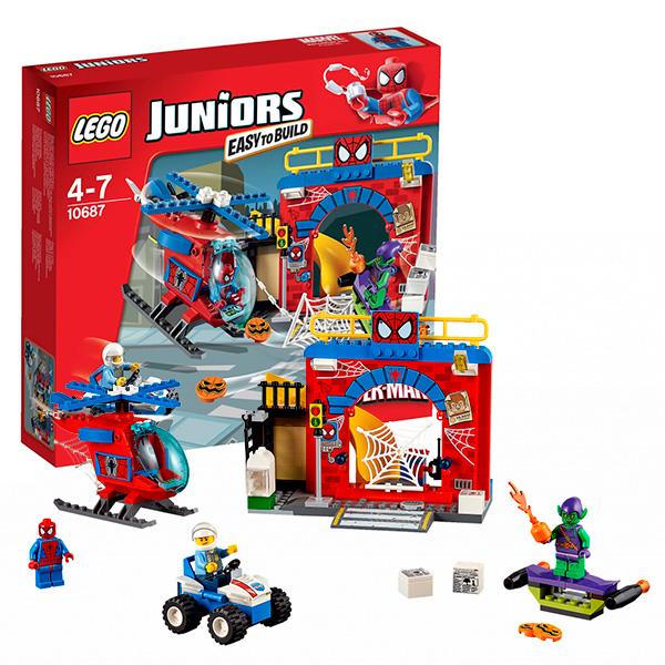Lego Juniors 10687 Лего Джуниорс Убежище Человека-Паука купить бластер для паутины человека паука