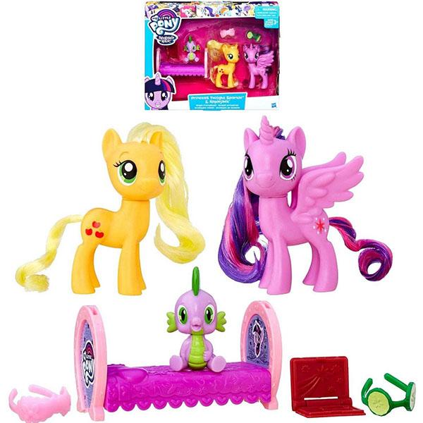 Hasbro My Little Pony B9160/B9850 Пони-модницы Принцесса Искорка и Эпплджек сумка printio my little pony applejack эпплджек