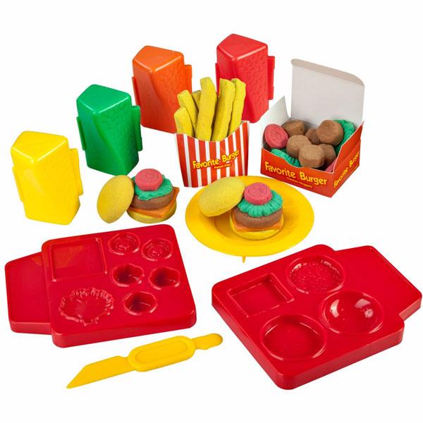 Skwooshi S30101 Сквуши Набор для творчества Бургер/ Мороженое Делюкс-масса для лепки skwooshi набор для лепки с аксессуарами бургер