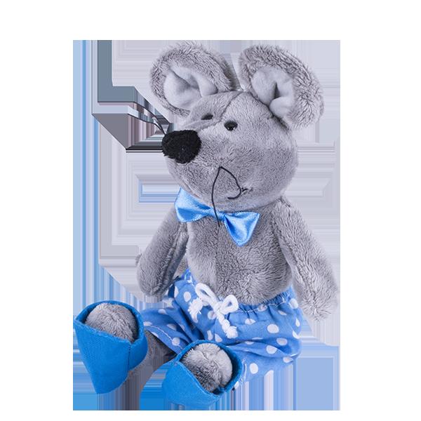 SOFTOY S884/15 Мягкая игрушка Мышка, 26см softoy ut 1301 игрушка мягкая бык 45 см