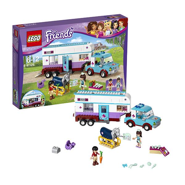 Lego Friends 41125_9 Лего Подружки Ветеринарная машина для лошадок