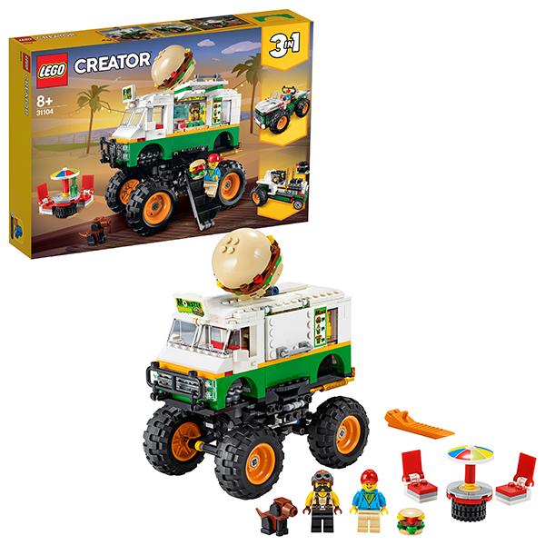LEGO Creator 31104 Конструктор ЛЕГО Криэйтор Грузовик Монстрбургер стоимость