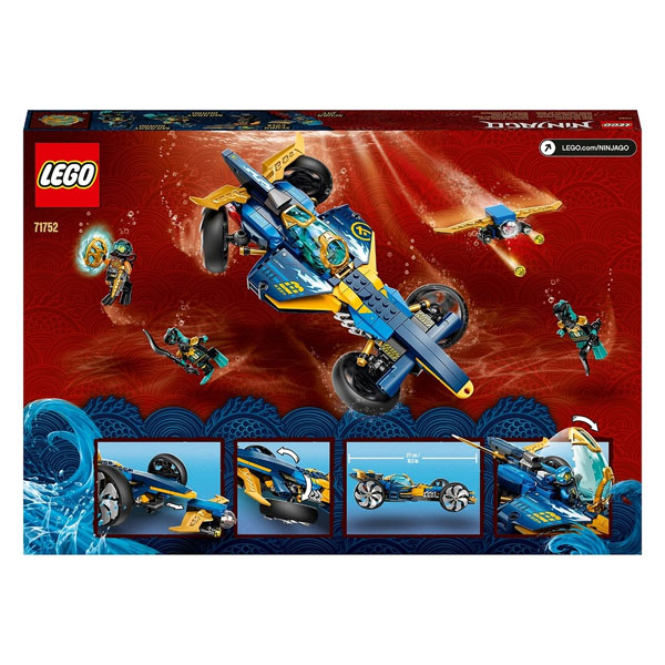 LEGO Ninjago 71752 Конструктор ЛЕГО Ниндзяго Спидер-амфибия ниндзя