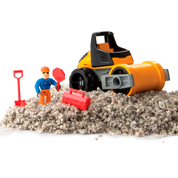Kinetic sand 11303 Кинетический песок серия Rock 141 грамм, машина, аксессуары