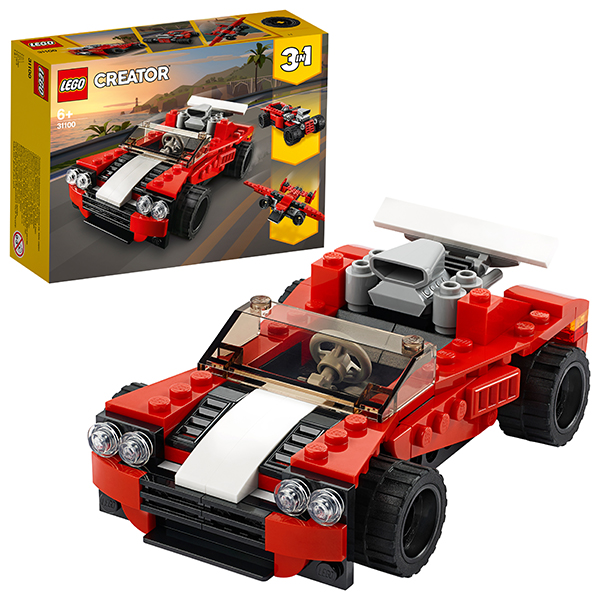 LEGO Creator 31100 Конструктор ЛЕГО Криэйтор Спортивный автомобиль стоимость