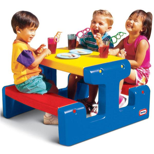 Little Tikes 4795 Литл Тайкс Стол с двумя скамейками (на 4-х детей)