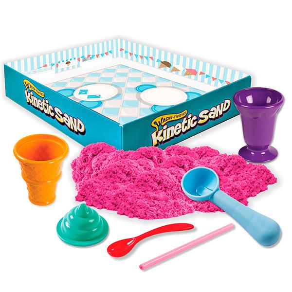 Kinetic sand 71417-ice Кинетик сэнд Игровой набор c формочками, 285 г