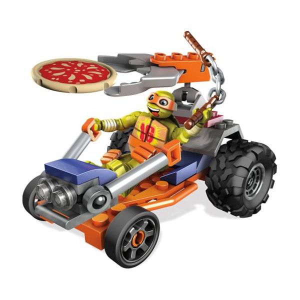 Mattel Mega Bloks DMX38 Мега Блокс Черепашки Ниндзя: лихие гонщики конструктор mega bloks черепашки ниндзя схватка со злодеям 114 элементов dmw29