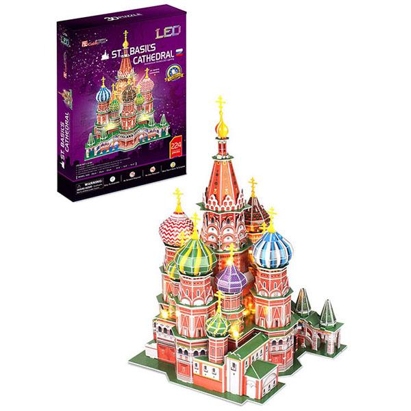 Cubic Fun L519h Кубик фан Собор Василия Блаженного с подсветкой (Россия) цена 2017