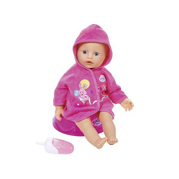 Zapf Creation Baby born 823-460 Бэби Борн Кукла быстросохнущая с горшком и бутылочкой, 32 см baby born кукла быстросохнущая baby born