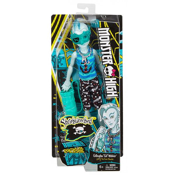 """Mattel Monster High DTV85 Школа Монстров Куклы из серии """"Пиратская авантюра"""" Гил Веббер"""