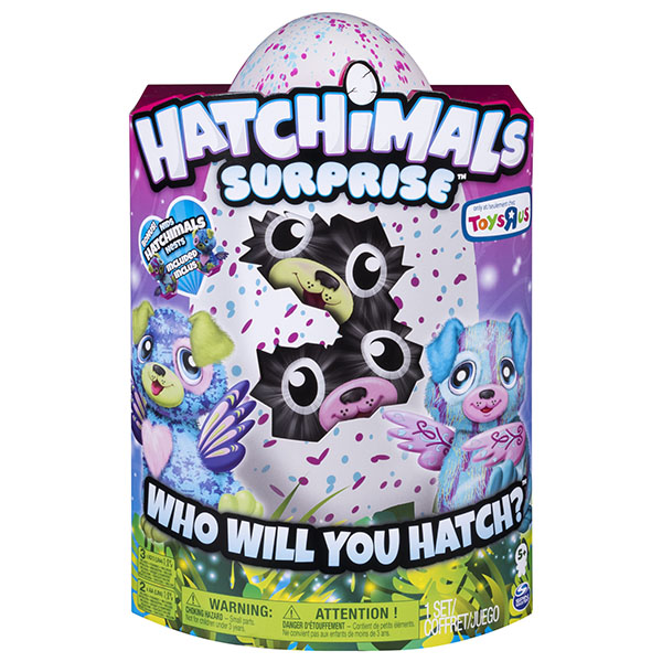 Hatchimals 19110-PUP Хетчималс сюрприз - близнецы интерактивные питомцы, вылупляющиеся из яйца